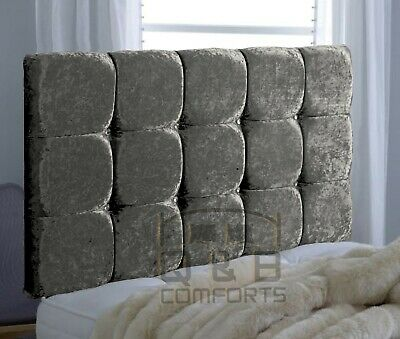 Diamond Headboard In Crushed Velvet 20  3ft 4ft 4ft6 5ft  • 32.68£