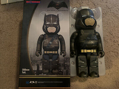 $125 • Buy Authentic Medicom 400% Superman V Armored Batman Bearbrick Be@rbrick Open Box