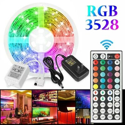 $13.28 • Buy 16FT Flexible Strip Light 3528 RGB LED SMD Remote Fairy Lights Room TV Party Bar