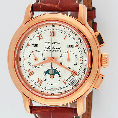 $8995 • Buy Zenith 18K Rose Gold Chronomaster El Primero Moonphase Chronograph 17.0240.410