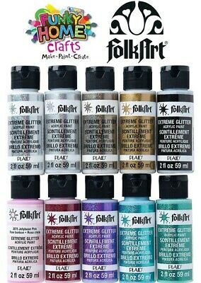 Folkart EXTREME GLITTER Acrylic Paint 2oz 59ml - Plaid, FolkArt Craft Paint • 9.99£