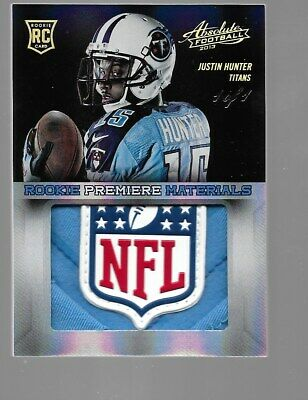 $99.95 • Buy JUSTIN HUNTER 2013 Absolute Rookie Patch NFL Shield Logo 1/1 Tennessee
