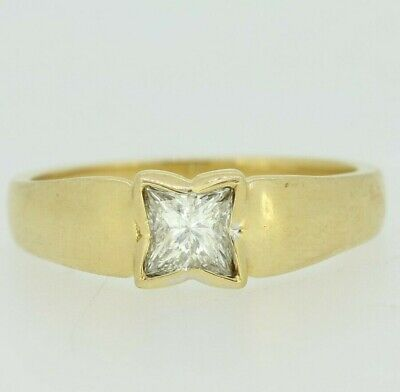 AU1379.27 • Buy Gold Diamond Ring - 18ct Yellow Gold Solitaire Diamond Ring Size N 1/2