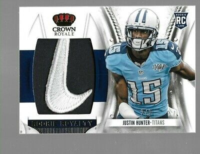 $99.95 • Buy JUSTIN HUNTER 2013 Crown Royale Rookie Nike Logo Patch 2/2 Tennessee