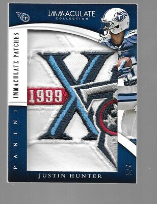 $99.95 • Buy JUSTIN HUNTER 2015 Immaculate Collection Logo Patch 3/4 Tennessee