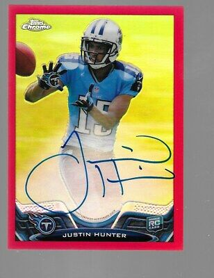 $49.95 • Buy JUSTIN HUNTER 2013 Topps Chrome Red Refractor Rookie Autograph 5/5 Tennessee