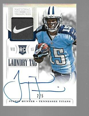 $49.95 • Buy JUSTIN HUNTER 2013 National Treasures Rookie Autograph Nike Patch 2/5 Tennessee