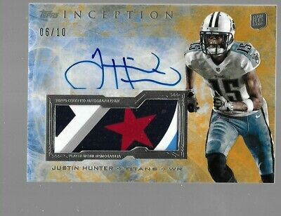 $39.95 • Buy JUSTIN HUNTER 2013 Topps Inception Rookie Autograph Patch 6/10 Tennessee