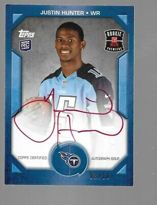 $39.95 • Buy JUSTIN HUNTER 2013 Topps Rookie Premiere Red Ink Autograph 8/10 Tennessee