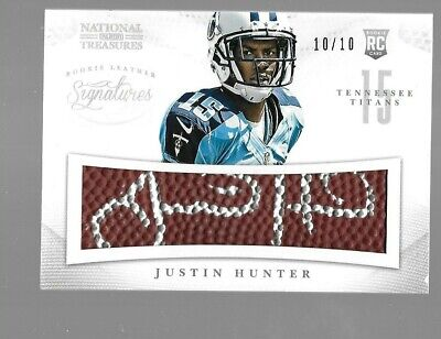 $29.95 • Buy JUSTIN HUNTER 2013 National Treasures Leather Signatures Rookie Autograph 10/10