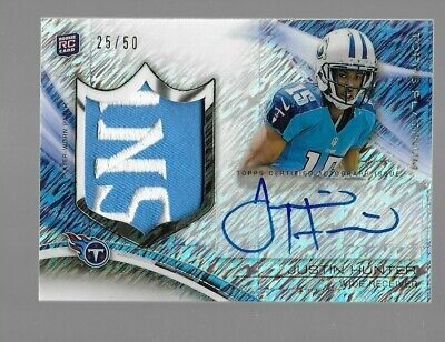 $29.95 • Buy JUSTIN HUNTER 2013 Topps Platinum Logo Patch Rookie Autograph 25/50 Tennessee