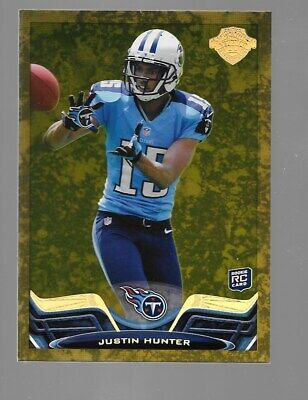 $19.95 • Buy JUSTIN HUNTER 2013 Topps Gold Rookie RC Legacy Legends Parallel 79/99