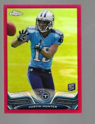 $19.95 • Buy JUSTIN HUNTER 2013 Topps Chrome Rookie Red Refractor Parallel 11/25
