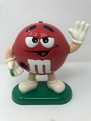 M&M's Large Red Sweet/Candy Dispenser Retro • 20£