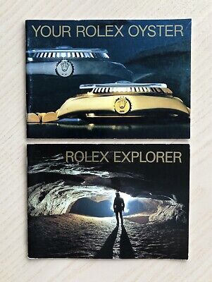$ CDN753.20 • Buy VINTAGE RARE 1988 ROLEX BOOKLETS EXPLORER 1016 16570 16550 9 Mill OR R Serial