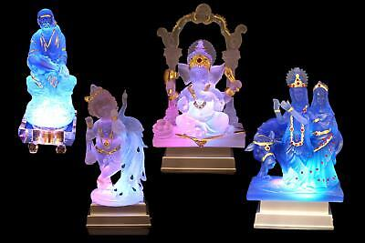 Hindu God Clear White Coloured Statue Idol Figurine For Home Decor   Gift Item • 23£