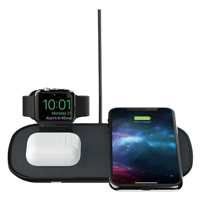 $ CDN269.19 • Buy Mophie 3-in-1 Wireless Triple Qi Charger For Apple Watch, Pods, IPhone Series