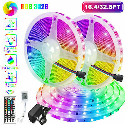 $19.99 • Buy 32FT Flexible 3528 RGB LED SMD Strip Light Remote Fairy Lights Room TV Party Bar