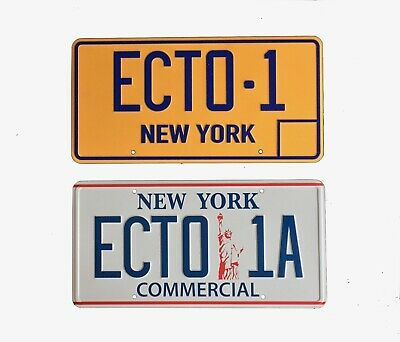 Ghostbusters ECTO 1 And ECTO-1A New York Prop License Plate 2 Pack  • 21.99£