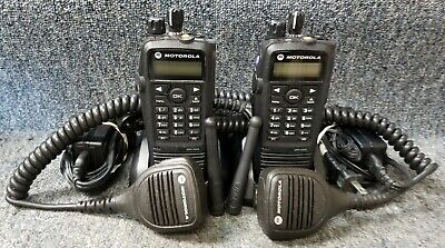 $487.77 • Buy Motorola XPR6550 Digital 403-470 DMR MotoTrbo Set Of 2 Radios OEM Mics VERY GOOD