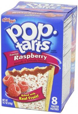 Kelloggs Frosted Raspberry Pop Tarts 416g (American Candy) • 9.50£