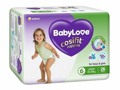AU11.89 • Buy Babylove Nappies Junior Size 6 Bulk 26 Pack