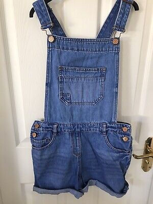 George Girls Denim Dungarees Age: 12-13 - Free Delivery To Reading • 4.80£