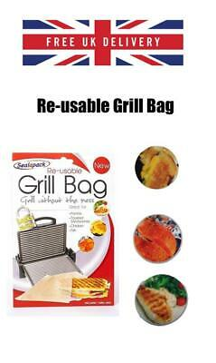 Sealapack Reusable Grill Bag NO MESS Paninis Toasted Sandwiches Meat Chicken  • 2.99£