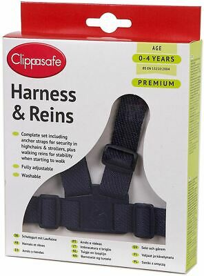 Clippasafe Premium Baby/child/toddler Harness & Reins Navy Safety New • 5.89£
