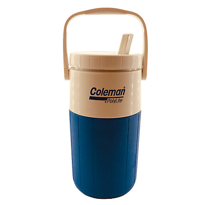 $18.99 • Buy Coleman Polylite Blue Half Gallon Thermos Water Jug W/Swivel Spout & Handle