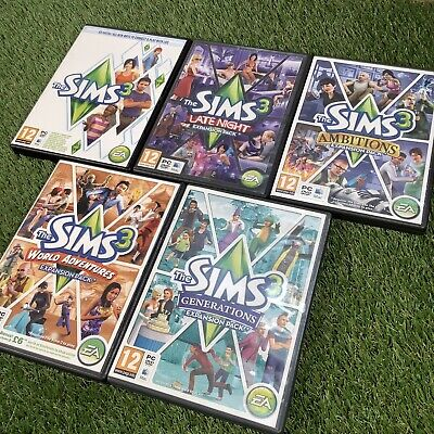 Sims 3 Pc/Mac Games Expansion Add On Bundle - Late Night Ambitions Generations • 24.99£