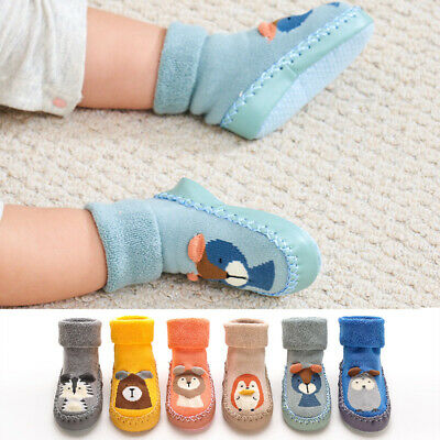 Baby Boy Girl Kids Socks Toddler Anti-slip Sock Shoes Boots Slipper Socks Winter • 4.59£