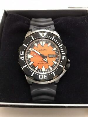 $ CDN1041.61 • Buy Seiko SRP315J1 Day Date Divers Orange Monster Automatic Mens Watch Auth Works