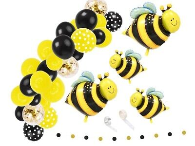 £12.95 • Buy Balloon Arch Bee Themed Party Decoration Balloon Kit Bumble Bee Birthday Party