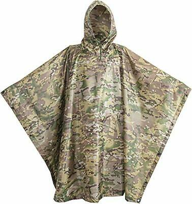 $61.65 • Buy USGI Industries Military Poncho Emergency Tent Shelter Multi Use Rip Stop Cam...