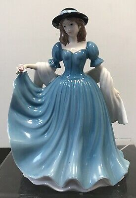 £22 • Buy The Leonardo Collection Figurines. Lady In Blue Dress