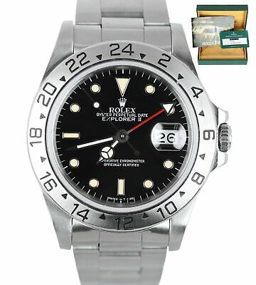 $ CDN10180.63 • Buy 2019 ROLEX SERVICE Explorer II PATINA 16570 Stainless 40mm GMT Auto Black 1988