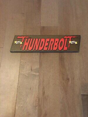 $9.50 • Buy VINTAGE THUNDERBOLT Sign -- KENNYWOOD Amusement Park, Pittsburgh, PA