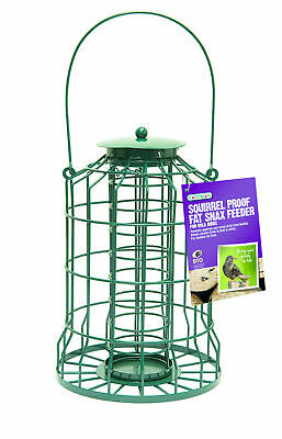 Squirrel Proof Guard Wild Bird Fat Snax Feeder Garden Hanging Tray Gardman 1622 • 14.99£