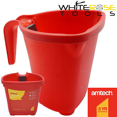 £5.35 • Buy Amtech Paint Kettle Pot With Magnetic Brush Holder Painting Decorating Bucket