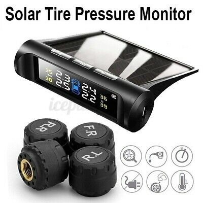 AU42.89 • Buy Wireless LCD TPMS USB Car Tire Tyre Pressure Monitor System Solar Power Sensor