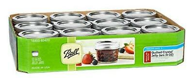 $24.29 • Buy Ball Mason 4oz Quilted Jelly Jars With Lids And Bands, Set Of 12