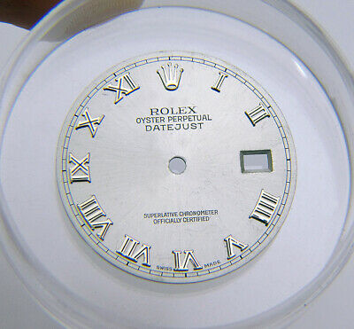 $ CDN135.77 • Buy Genuine Rolex Datejust Silver Watch Dial With Roman Numeral Markers 16014 116234