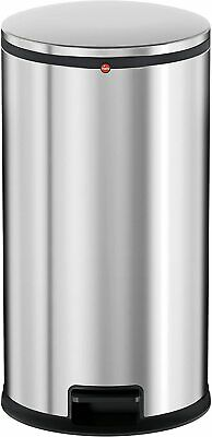 Hailo 0530-010  Pure L  Pedal Kitchen Bin, Stainless Steel, 25 Litre Silver New • 29.99£