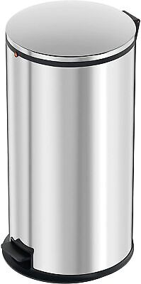 Hailo 0545-010  Pure XL  Pedal Kitchen Bin, Stainless Steel, 44 Litre Silver New • 23.99£