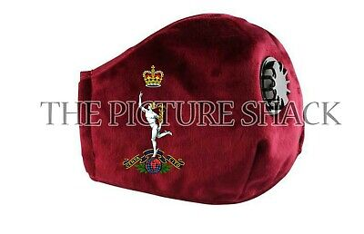 Royal Corps Of Signals Cap Badge On A Face Mask With Breather Valve. 4 Colours • 14.99£
