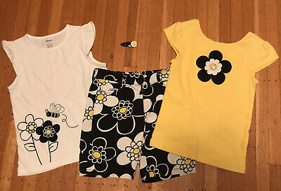 $19 • Buy Gymboree Bee Chic Lot Of 4 Top Hair Shorts Girls Size:6 EUC