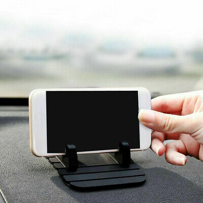 Black Car Dashboard Non-slip Mat Rubber Mount Holder Pad Phone Stand Accessories • 2.66£