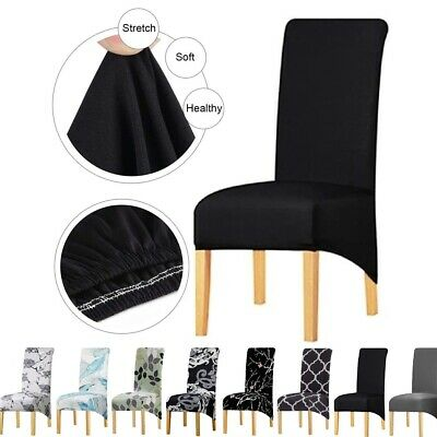 AU34.99 • Buy 1/4/6PCS XL Dining Chair Cover Polyester Seat Slipcover Banquet Wedding Party