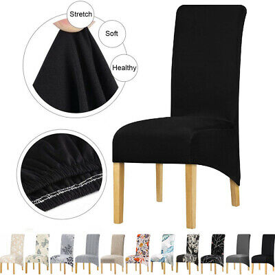 AU50.99 • Buy Dining Chair Cover Large Size Slipcover Washable Banquet Wedding Party 1/4/6 Pcs